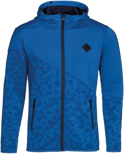 ION Zip Hoodie Technostretch 2-Lagen Fleece, blue